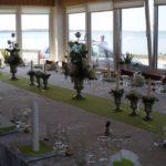 opdækning til bryllup i verandaen